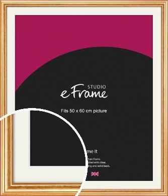 Slightly Textured Warm Gold Picture Frame & Mount, 50x60cm (VRMP-206-M-50x60cm)
