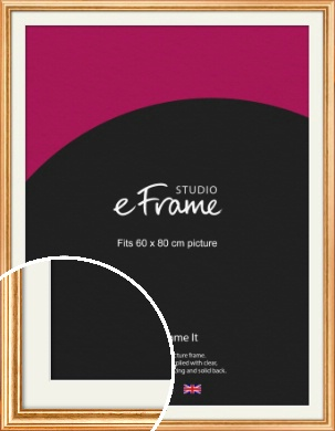 Slightly Textured Warm Gold Picture Frame & Mount, 60x80cm (VRMP-206-M-60x80cm)