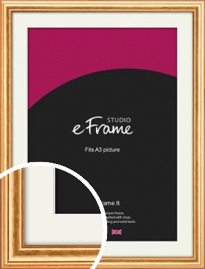 Slightly Textured Warm Gold Picture Frame & Mount, A3 (297x420mm) (VRMP-206-M-A3)