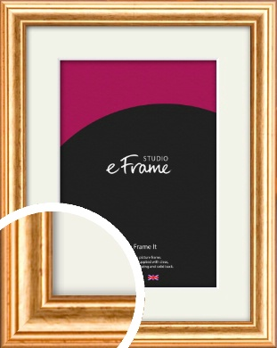 Slightly Textured Warm Gold Picture Frame & Mount (VRMP-206-M)