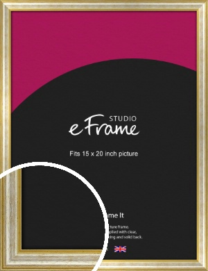 Worn Gold & Silver Picture Frame, 15x20