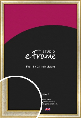 Worn Gold & Silver Picture Frame, 16x24