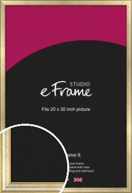 Worn Gold & Silver Picture Frame, 20x30