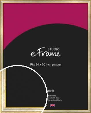 Worn Gold & Silver Picture Frame, 24x30
