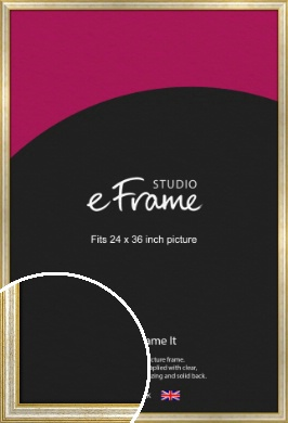 Worn Gold & Silver Picture Frame, 24x36