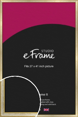 Worn Gold & Silver Picture Frame, 27x41