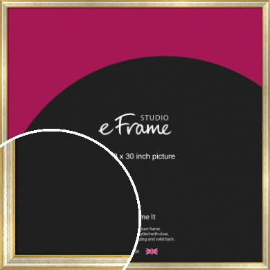 Worn Gold & Silver Picture Frame, 30x30