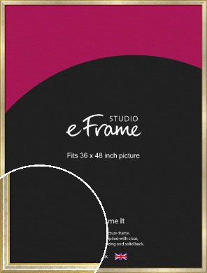 Worn Gold & Silver Picture Frame, 36x48