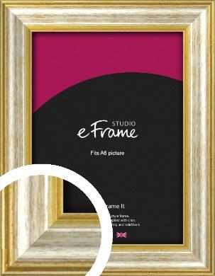 Worn Gold & Silver Picture Frame, A6 (105x148mm) (VRMP-207-A6)