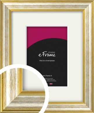 Gold Chrome White Natural Brown Picture frame for pictures in size 40x50cm Colors