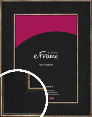 Shagreen Effect Black Picture Frame, A4 (210x297mm) (VRMP-1048-A4)