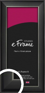 Reflective Black Picture Frame, 4x10