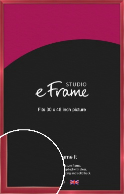 High Shine Merlot Red Picture Frame, 30x48