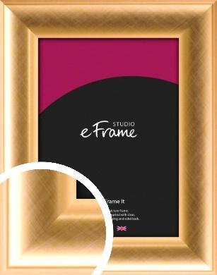 Captivating Crosshatch Gold Picture Frame (VRMP-454)