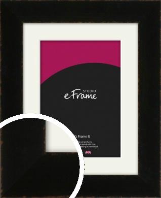 High Shine Art Deco Black Picture Frame & Mount (VRMP-1064-M)