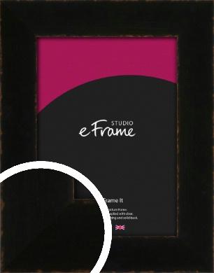 High Shine Art Deco Black Picture Frame (VRMP-1064)