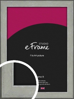 Marbled Shabby Silver Picture Frame, A4 (210x297mm) (VRMP-1067-A4)