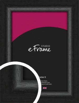 Curvy Open Grain Retro Black Picture Frame (VRMP-1068)