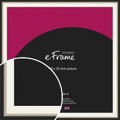 Gold Accent Black Picture Frame & Mount, 30x30