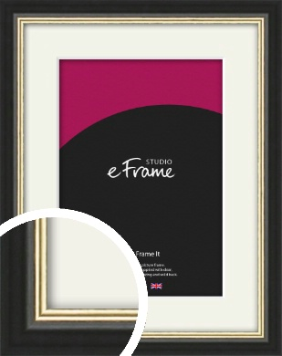 Gold Accent Black Picture Frame & Mount (VRMP-1070-M)