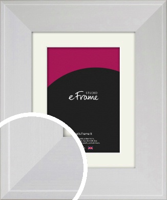 Seamless Wide Snow White Picture Frame & Mount (VRMP-1072-M)