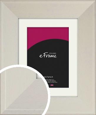 Wide Soft Cream Picture Frame & Mount (VRMP-1073-M)