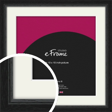 Highly Textured Black Picture Frame & Mount, 10x10
