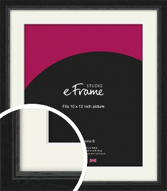 Highly Textured Black Picture Frame & Mount, 10x12