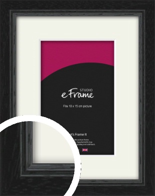 Highly Textured Black Picture Frame & Mount, 10x15cm (4x6