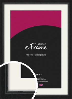 Highly Textured Black Picture Frame & Mount, 10x15