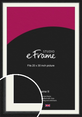 Highly Textured Black Picture Frame & Mount, 20x30