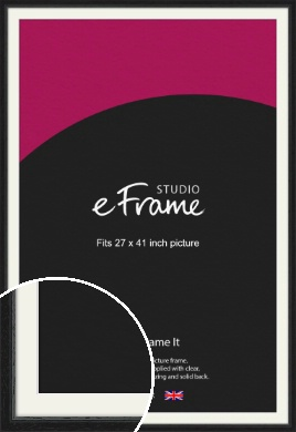 Highly Textured Black Picture Frame & Mount, 27x41