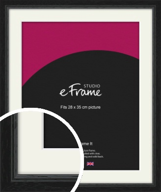 Highly Textured Black Picture Frame & Mount, 28x35cm (VRMP-1082-M-28x35cm)