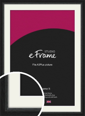 Highly Textured Black Picture Frame & Mount, A3Plus (VRMP-1082-M-329x483mm)