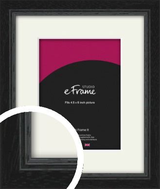 Highly Textured Black Picture Frame & Mount, 4.5x6