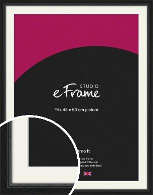 Highly Textured Black Picture Frame & Mount, 45x60cm (VRMP-1082-M-45x60cm)