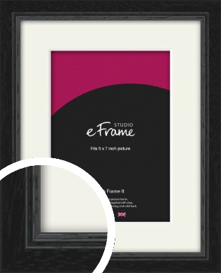 Highly Textured Black Picture Frame & Mount, 5x7