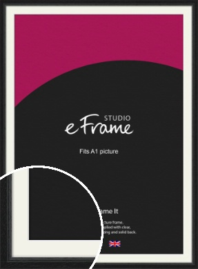 Highly Textured Black Picture Frame & Mount, A1 (594x841mm) (VRMP-1082-M-A1)