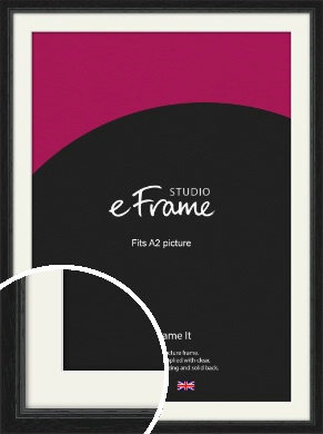 Highly Textured Black Picture Frame & Mount, A2 (420x594mm) (VRMP-1082-M-A2)