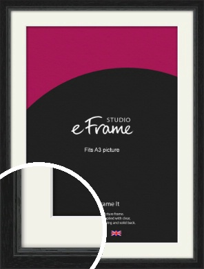 Highly Textured Black Picture Frame & Mount, A3 (297x420mm) (VRMP-1082-M-A3)