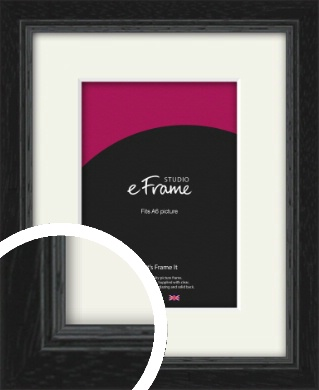 Highly Textured Black Picture Frame & Mount, A6 (105x148mm) (VRMP-1082-M-A6)