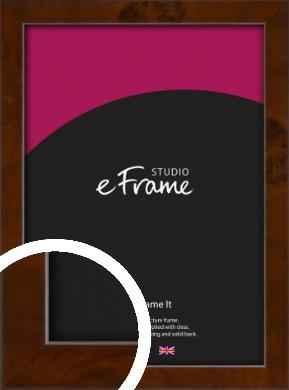 Narrow Dark Burl Brown Picture Frame (VRMP-1083)