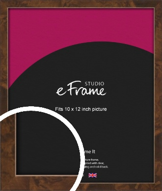 Narrow Mid Burl Brown Picture Frame, 10x12