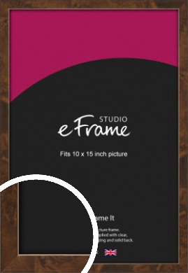 Narrow Mid Burl Brown Picture Frame, 10x15