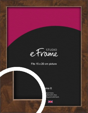 Narrow Mid Burl Brown Picture Frame, 15x20cm (6x8