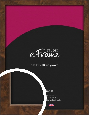 Narrow Mid Burl Brown Picture Frame, 21x28cm (VRMP-1084-21x28cm)