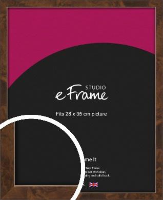 Narrow Mid Burl Brown Picture Frame, 28x35cm (VRMP-1084-28x35cm)