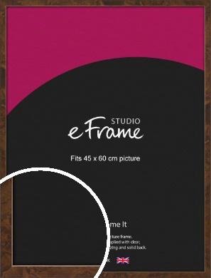 Narrow Mid Burl Brown Picture Frame, 45x60cm (VRMP-1084-45x60cm)
