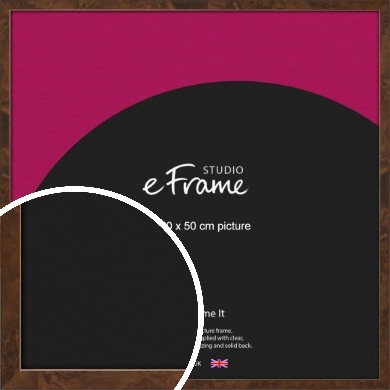 Narrow Mid Burl Brown Picture Frame, 50x50cm (VRMP-1084-50x50cm)