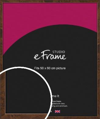 Narrow Mid Burl Brown Picture Frame, 50x60cm (VRMP-1084-50x60cm)